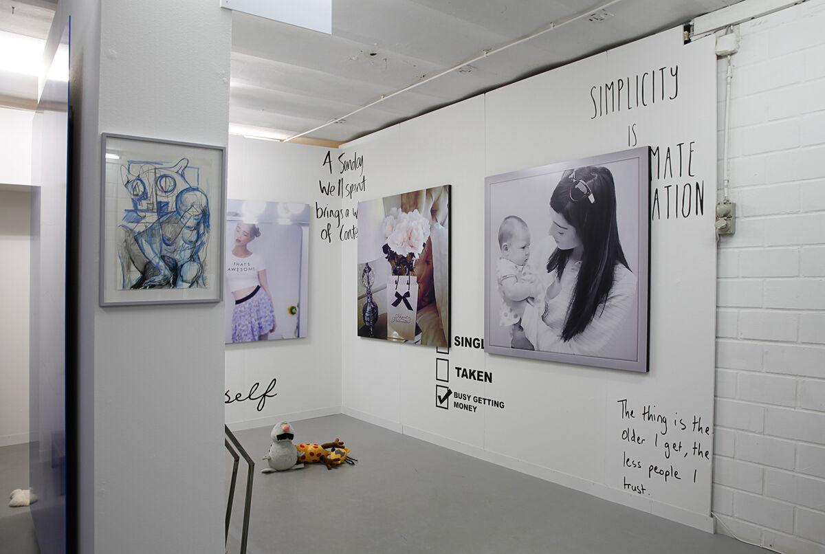 Works byAmalia Ulman at Arcadia Missa, LISTE 2015.Photo by Alec Bastian for Artsy.