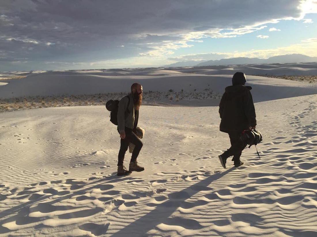 Portrait of Julius von Bismark in the White Desert of New Mexico courtesy of the artist.