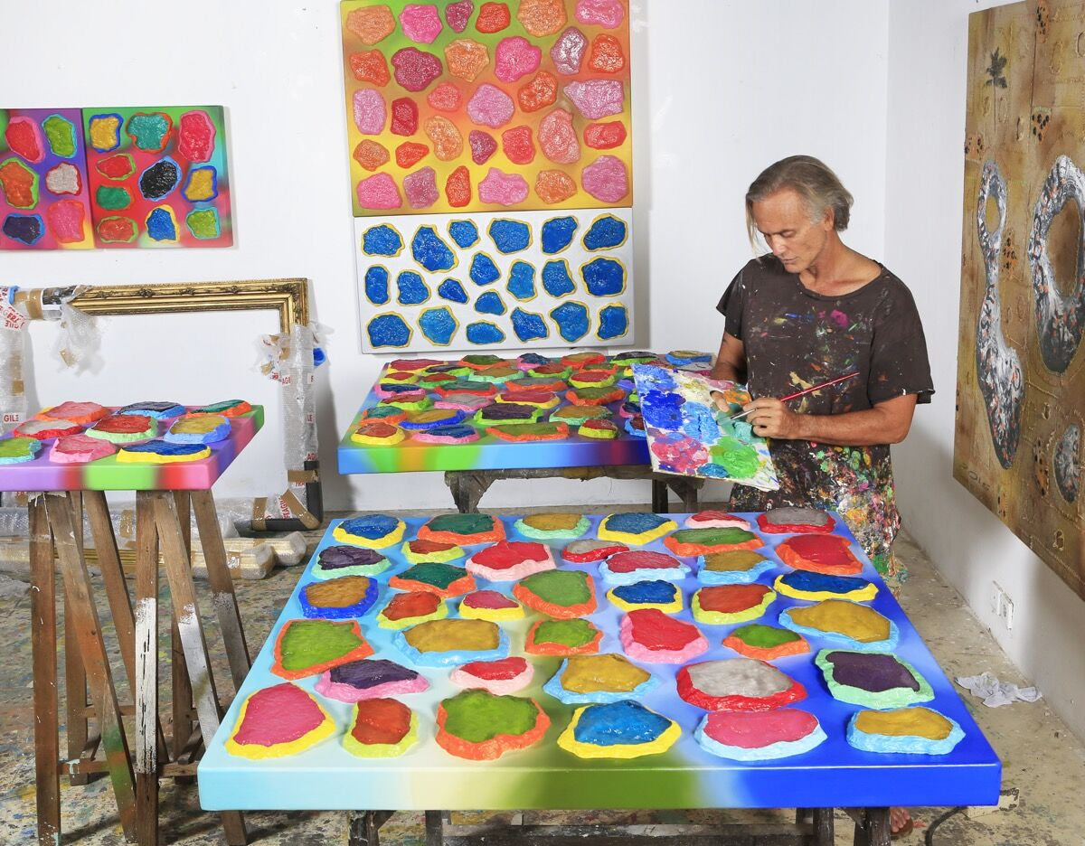 Portrait of Ashley Bickerton in Bali. Courtesy of The FLAG Art Foundation.