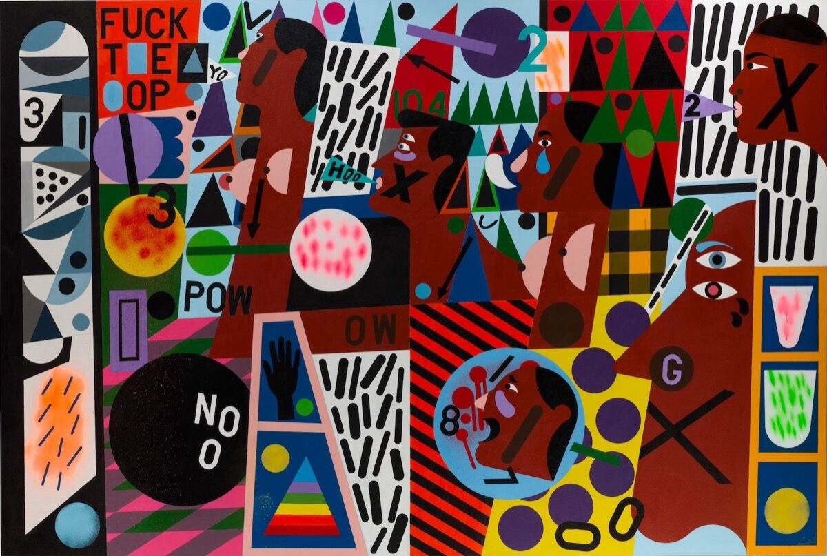 Nina Chanel Abney, Untitled (FUCKT*E*OP), 2014. Courtesy of Bonhams.