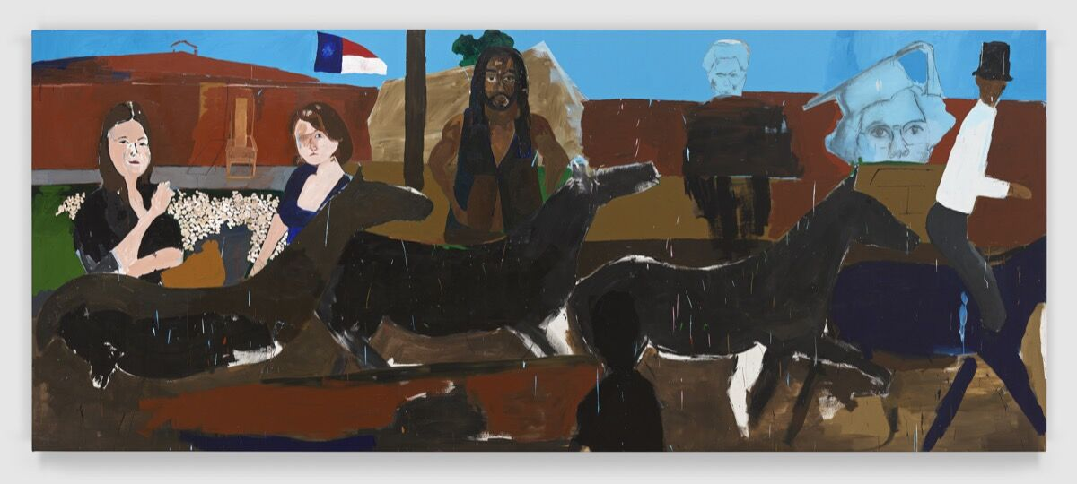Henry Taylor, Ancestors of Genghis Khan with Black Man on Horse, 2015-17. © Henry Taylor. Courtesy of the artist and Blum & Poe, Los Angeles/New York/Tokyo.