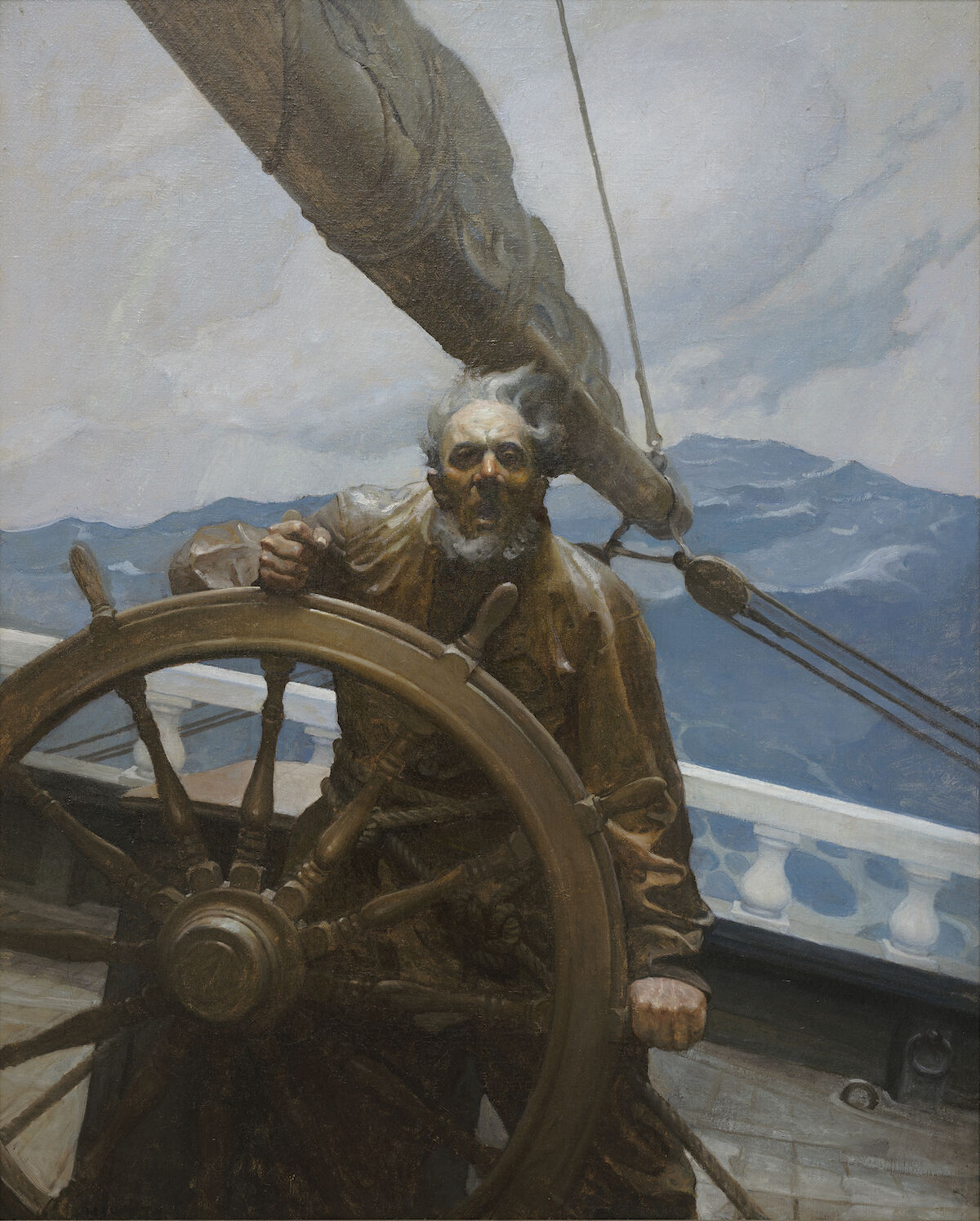 "N. C. Wyeth, Yes, 'N', He'd Let a Roar Outer Him, An' Mebbe He'd Sing, ""Hail Columbia, Happy Land!,""  1914. Courtesy of the Brandywine River Museum of Art."