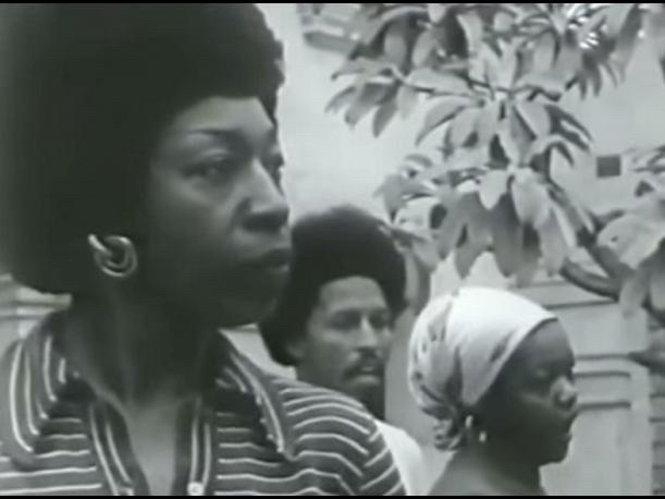 Victoria Santa Cruz, Me gritaron negra (They shouted black at me), 1978. Video documentation of performance, excerpted from the documentary Victoria - Black and Woman (1978). Courtesy of OTA-Odin Teatret Archives and the Hammer Museum.