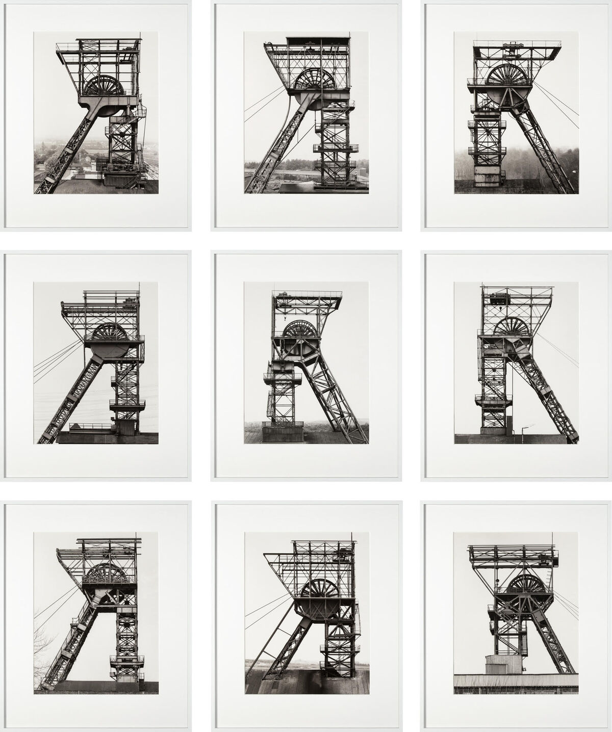 Bernd & Hilla Becher, Winding Towers, 1967-82. Courtesy of Galleri K and TEFAF Maastricht.