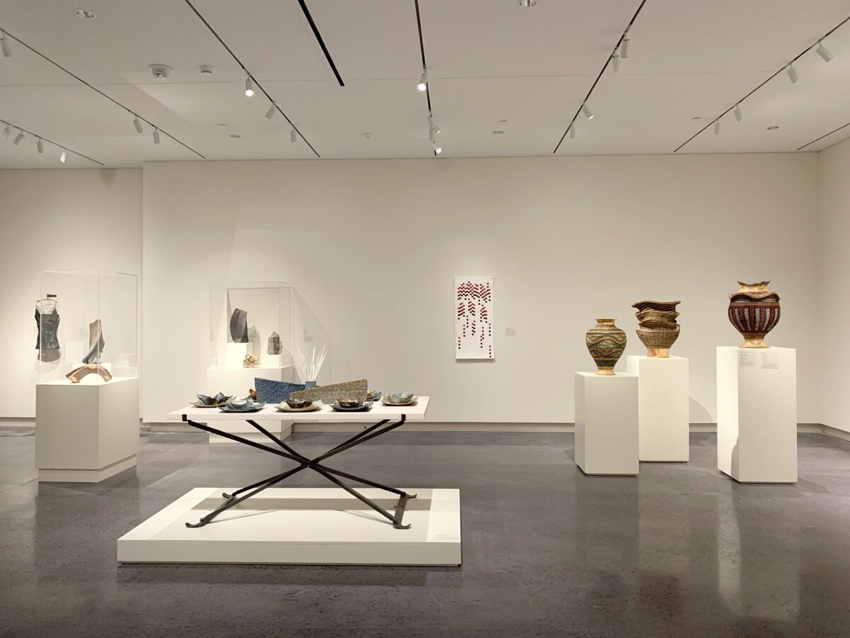 """Installation view of """"Appalachia Now!,"""" at the Asheville Art Museum, 2019. Photo by Jason Andrew. Courtesy of the Asheville Art Museum."""