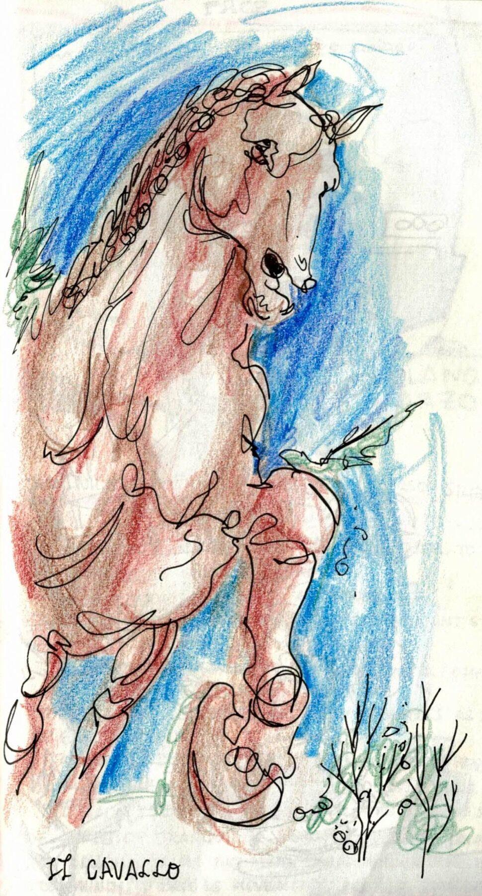 Il Cavallo. Sketch by Nikki Martinez. Courtesy of the artist.