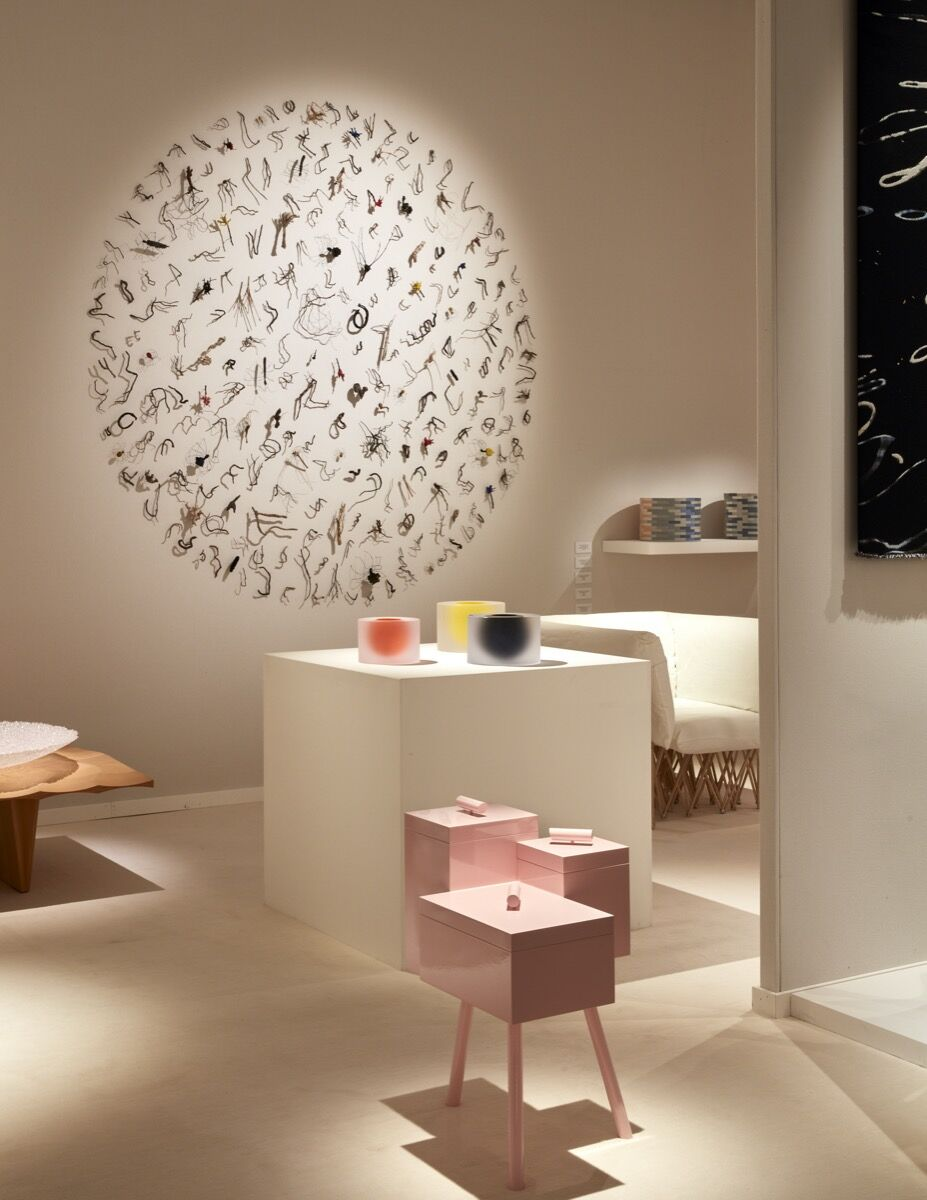 Installation view of Galerie Maria Wettergren's booth at TEFAF Maastricht, 2020. Courtesy of Galerie Maria Wettergren and TEFAF Maastricht.