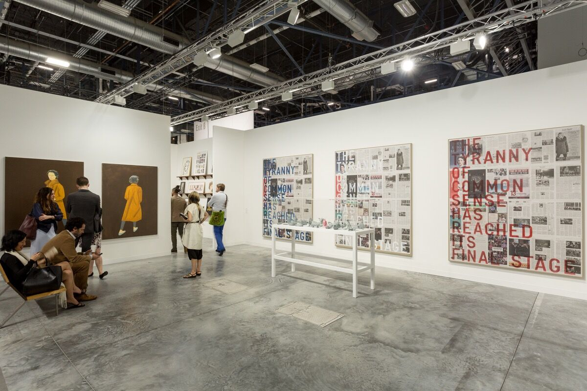 Installation view of Gavin Brown's enterprise's booth at Art Basel in Miami Beach, 2016. Photo by Alain Almiñana for Artsy.