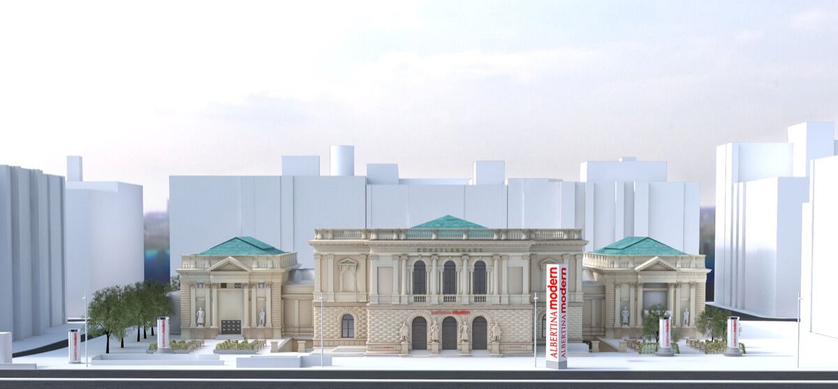 Rendering of the Albertina Modern. © Christian Satek Werbeagentur G.m.b.H.