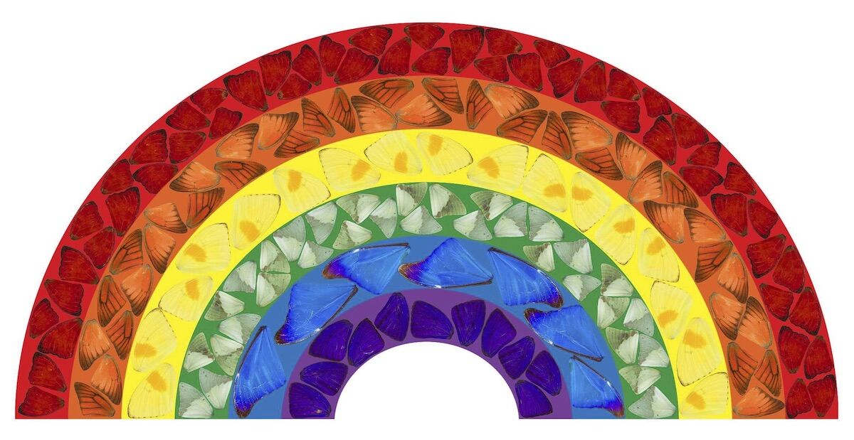 Damien Hirst, Butterfly Rainbow, 2020. ©Damien Hirst and Science Ltd.