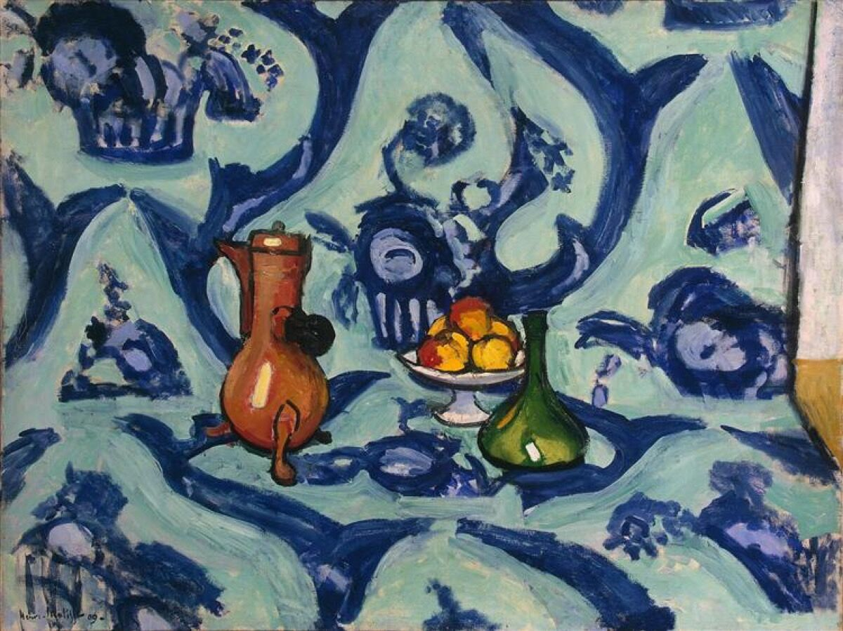 Henri Matisse, Still Life with Blue Tablecloth, 1909. Collection of the State Hermitage Museum.