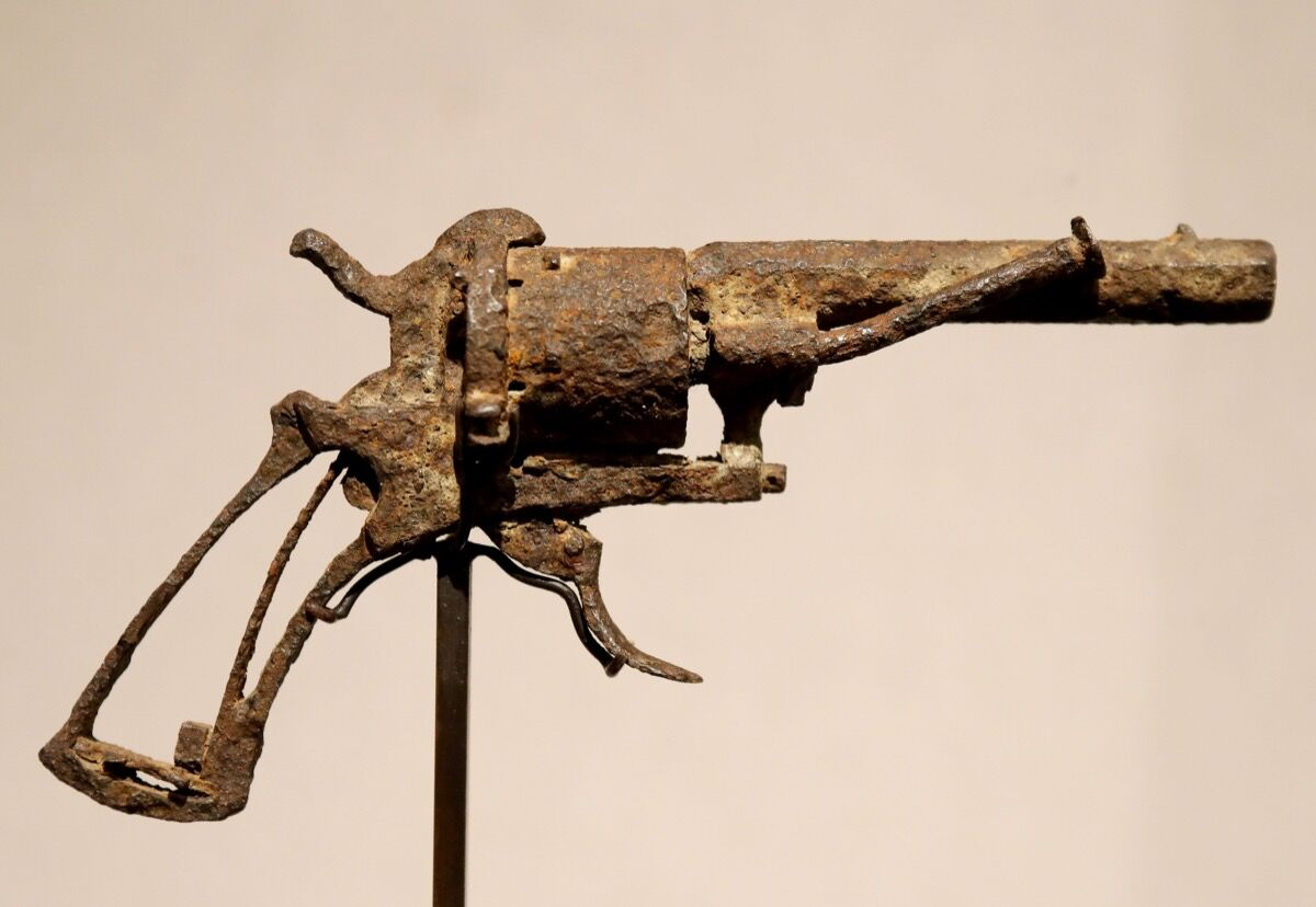 The revolver believed to have killed Van Gogh. Photo by Francois Guillot/AFP/Getty Images.