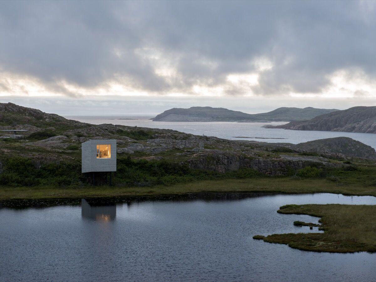 Fogo Island Arts'Bridge Studio in Deep Bay, Fogo Island, Newfoundland,Canada, 2014. Photo by Alex Fradkin. Courtesy of Fogo Island Arts.