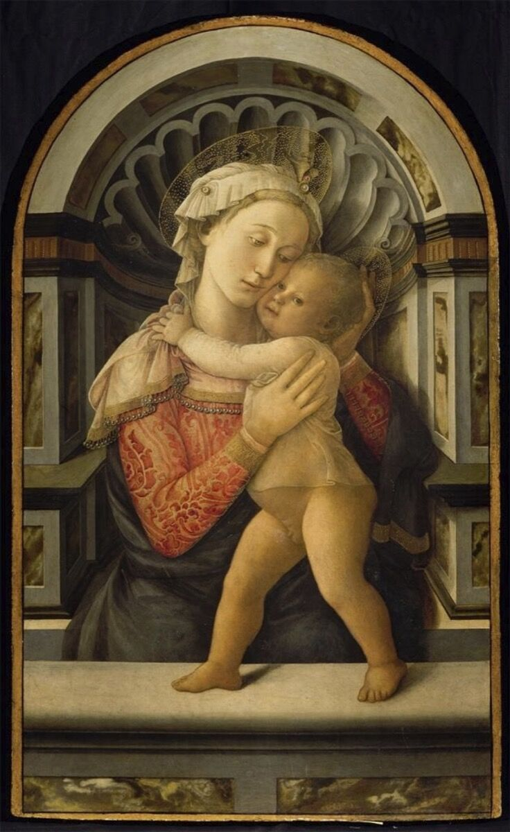 Filippo Lippi, Madonna and Child, ca. 1466-1469. Palazzo Medici Riccardi, Florence (property of the Città Metropolitana di Firenze). Image courtesy of the Muscarelle Museum of Art & Museum of Fine Arts Boston.