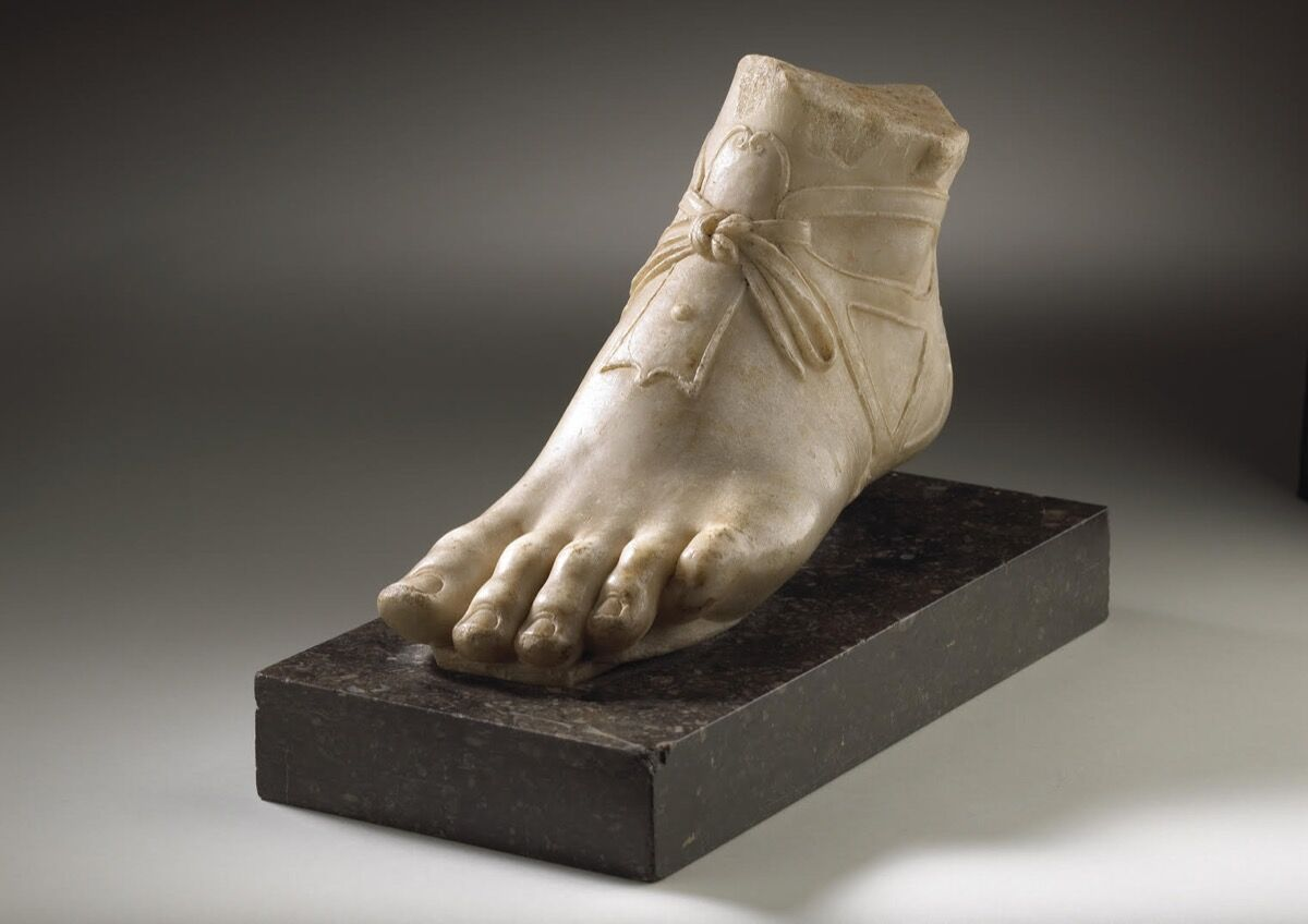 A Winged, Sandaled Foot of Mercury, 1st–2nd century C.E. Courtesy of Tomasso Brothers Fine Art.