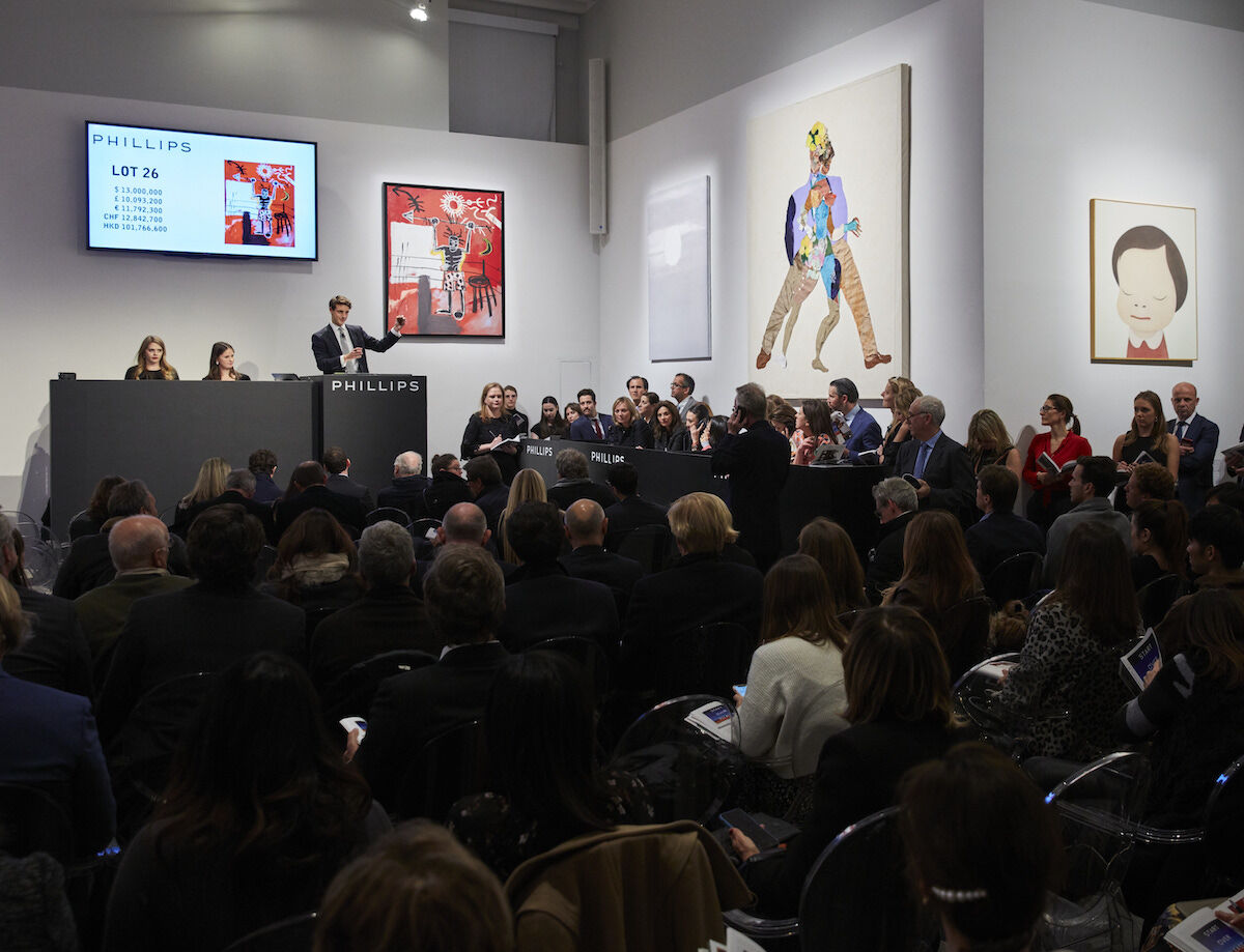 The 20th Century & Contemporary Art evening sale at Phillips on November 14. Courtesy Phillips.