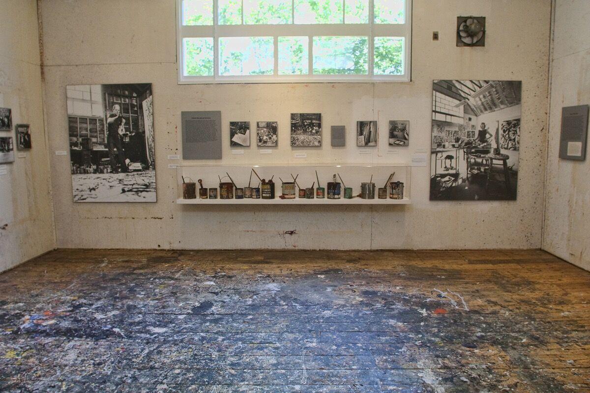 Pollock-Krasner studio. Photo by John Griffin. Courtesy of the Pollock-Krasner House and Study Center.