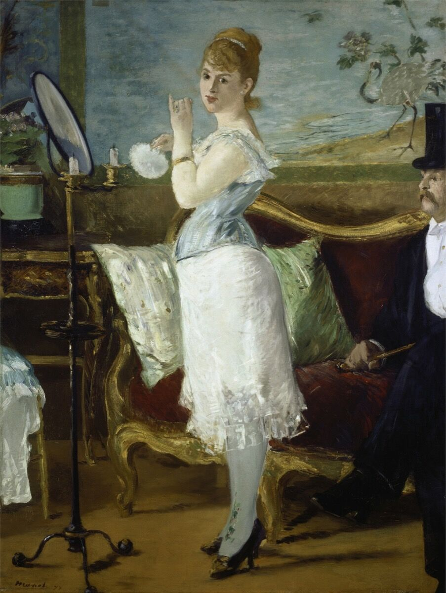 Édouard Manet, Nana, 1877. Kunsthalle Hamburg. Photo via Wikimedia Commons.