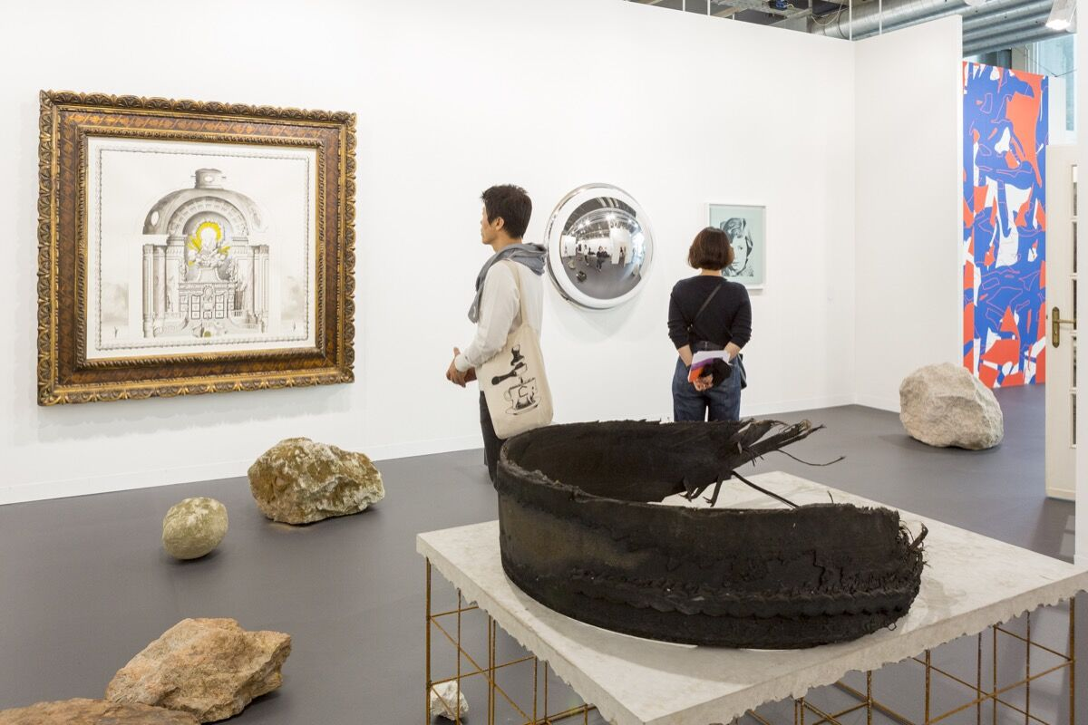Installation view of Galleria Franco Noero's booth at Art Basel, 2016. Photo courtesy of Art Basel.