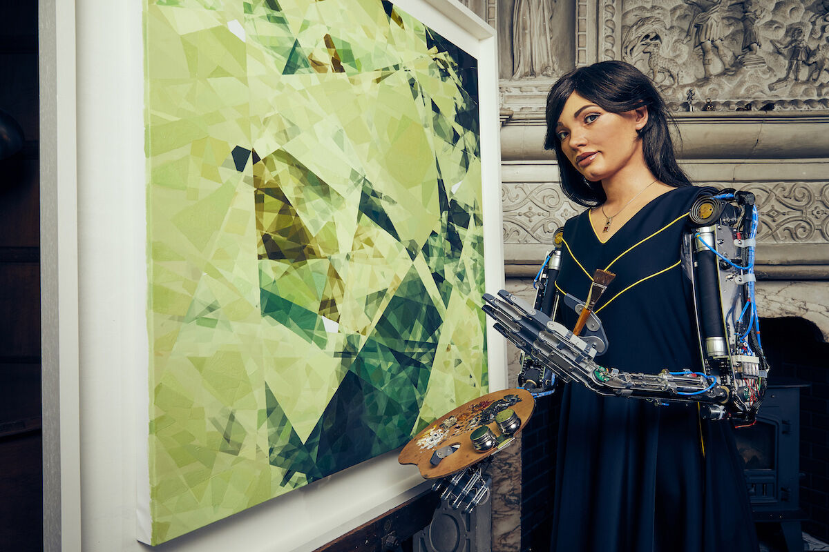 A robot artist is having its first solo exhibition and has already ...