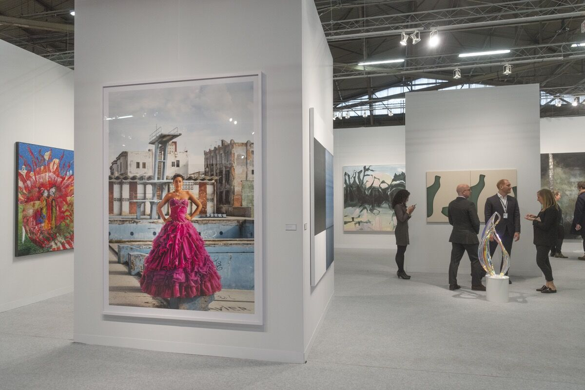 Installation view of Sean Kelly Gallery's booth at The Armory Show, 2018. Photo by Adam Reich for Artsy.