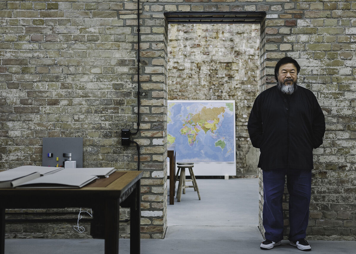 Portrait of Ai Weiwei in his Berlin studio by Wolfgang Stahr for Artsy.© Artsy andWolfgang Stahr.
