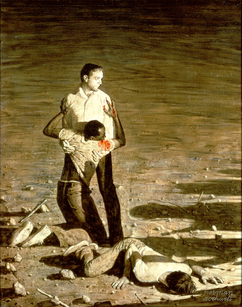 Norman Rockwell, Murder in Mississippi, 1965. © Norman Rockwell Family Agency. Courtesy of the Norman Rockwell Museum and the New York Historical Society Museum & Library.