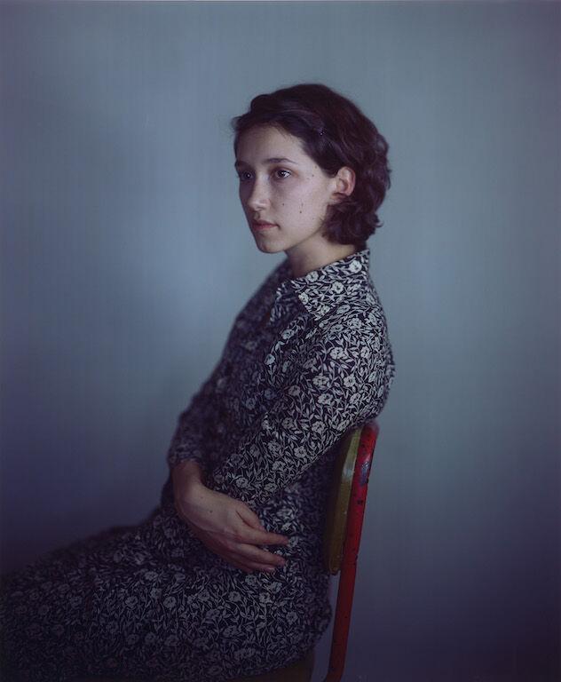 Richard Learoyd, Nancy Flowered Dress, 2011. © Richard Learoyd. Courtesy Fraenkel Gallery, San Francisco.