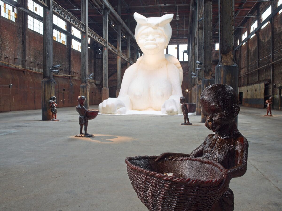Kara Walker, A Subtlety or the Marvelous Sugar Baby, 2014 . Photo by Jason Wyche. © Kara Walker.