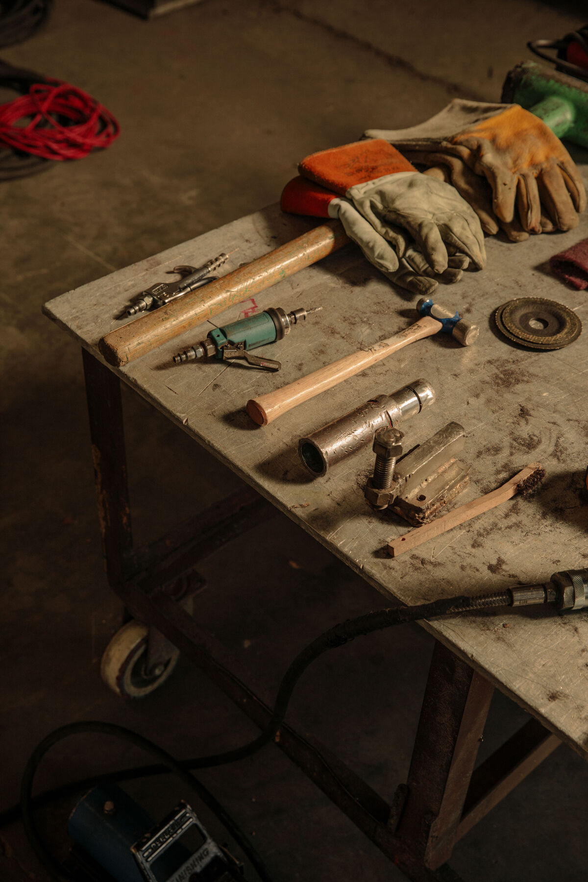 Finishing tools. Photo by Ricky Rhodes for Artsy.