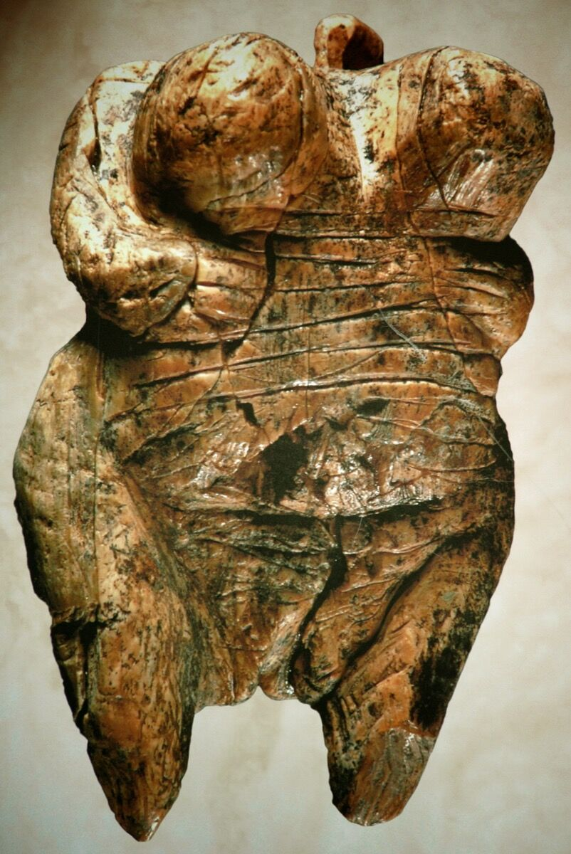 Venus of Hohle Fels, 35,000–40,000 B.C. Image via Wikimedia Commons.
