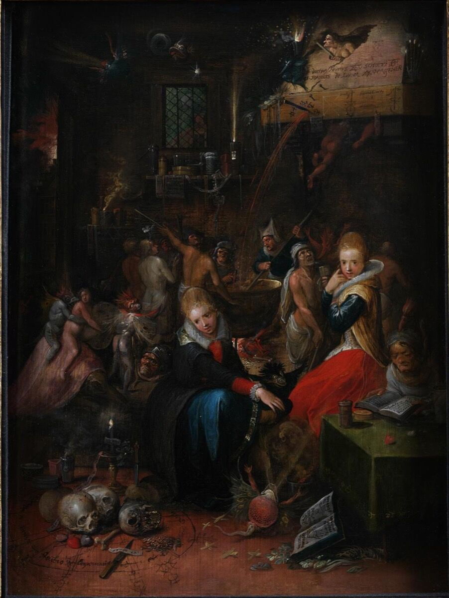 Frans Francken the Younger, Witches' Sabbath, 1606. Courtesy of the Victoria and Albert Museum.