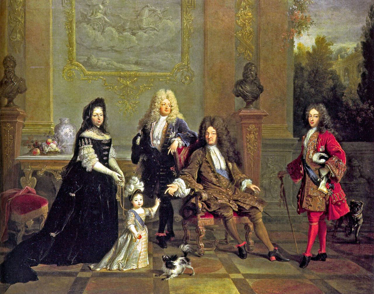 Louis XIV and His Family, ca. 1710. Image via Wikimedia Commons.