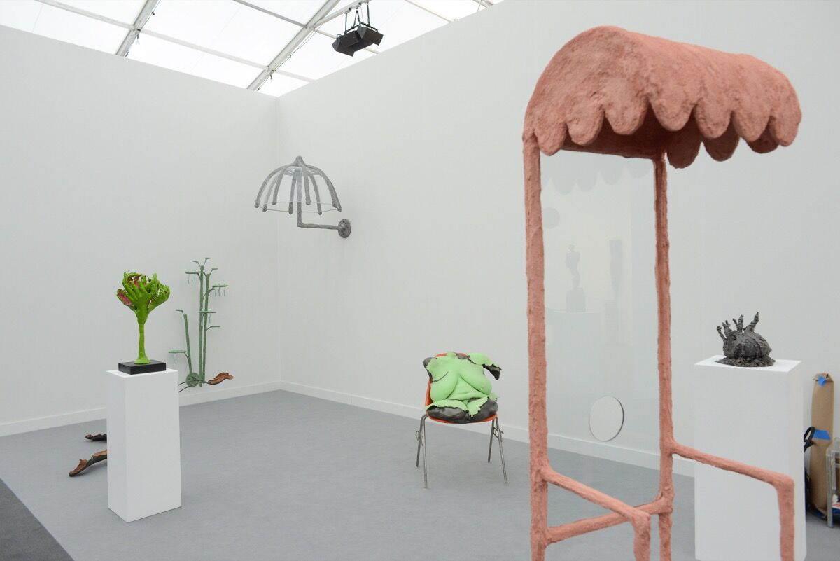 Installation view of Commonwealth & Council's booth at Frieze Los Angeles, 2020. Photo by Casey Kelbaugh. Courtesy of Casey Kelbaugh/Frieze.