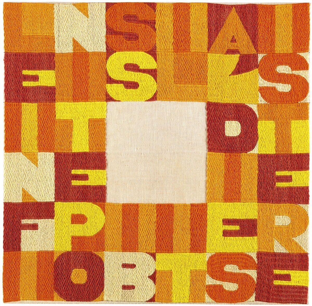Alighiero Boetti, Le Infinite Possibilità Di Esistere. Courtesy of Sotheby's.