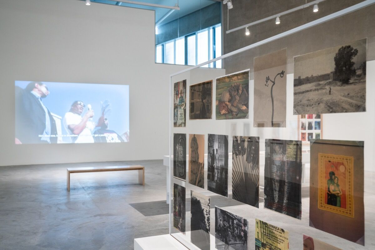 "Installation view of ""Liz Johnson Artur: Dusha,"" 2020, at Contemporary Art Museum St. Louis. Photo by Dusty Kessler. Courtesy of Contemporary Art Museum St. Louis."