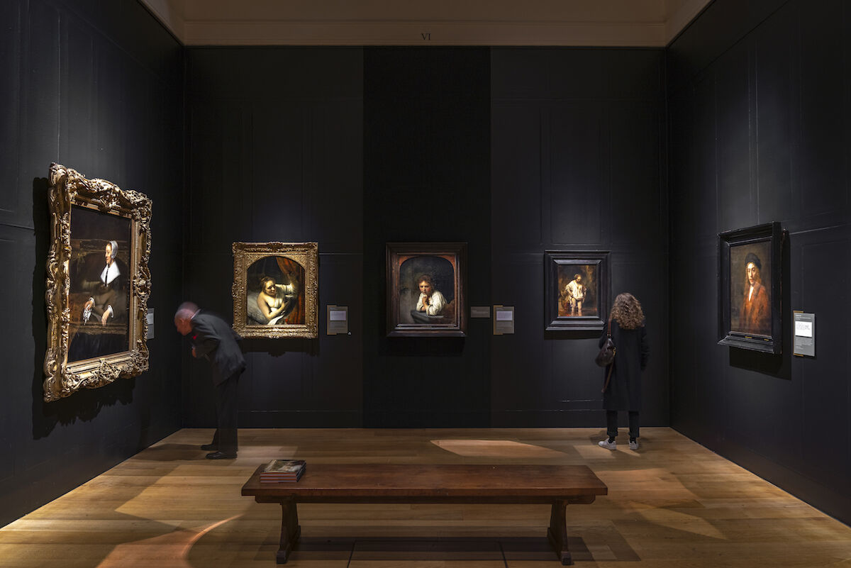 "Installation view of ""Rembrandt's Light"" at the Dulwich Picture Gallery. Lighting by ERCO. Photography by Gavriil Papadiotis."