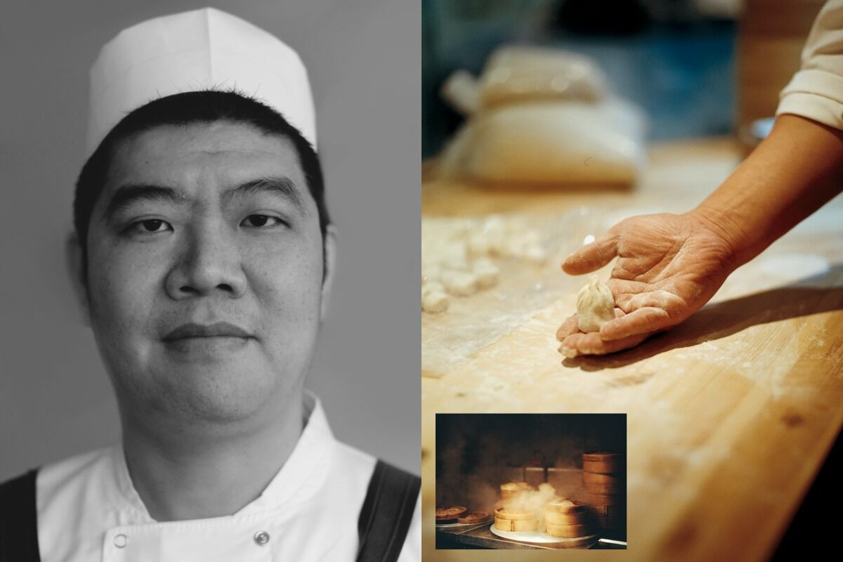 """Kenneth Lam, Chef Bing, Dumplings' Legend,  from """"Humans of Chinatown London,"""" 2020. Courtesy of the artist."""