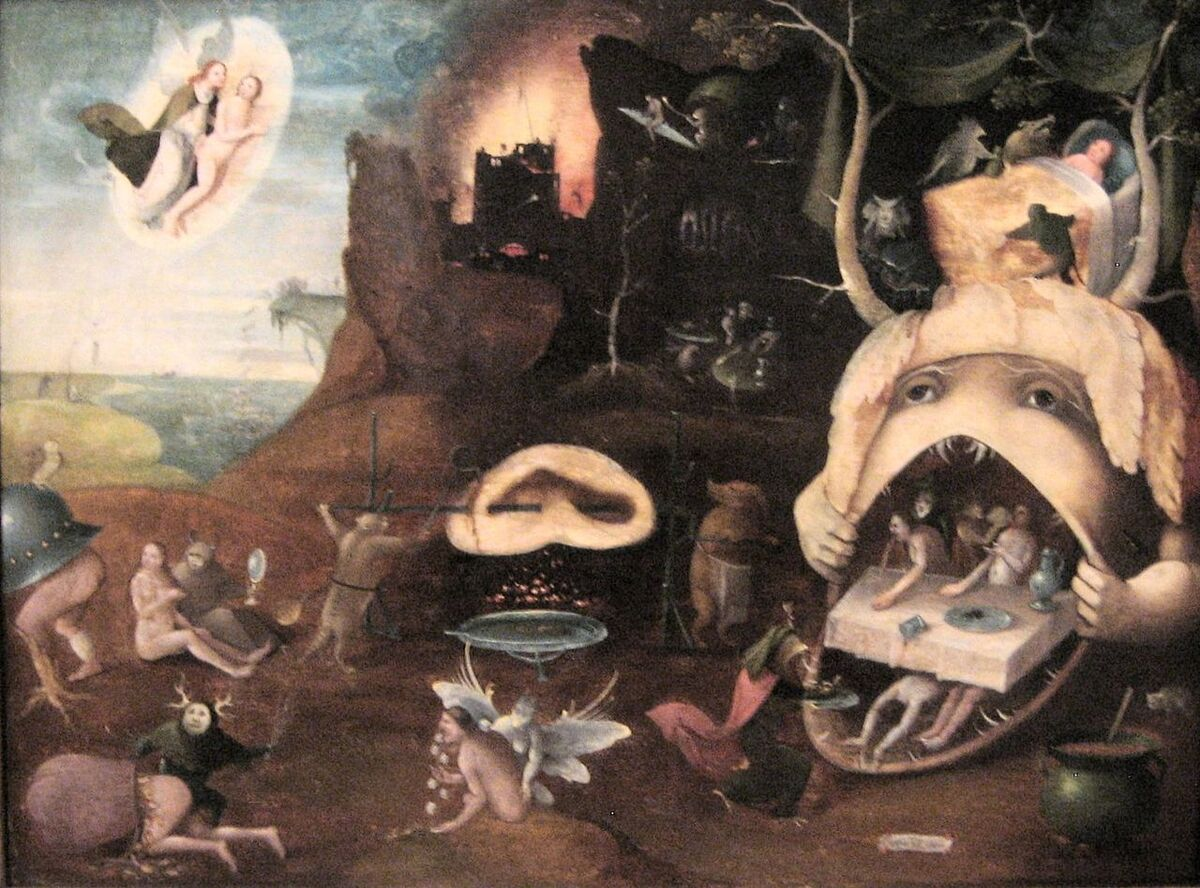 Followers of Hieronymous Bosch, The Vision of Tundale, ca. 1520–30. Image via Wikimedia Commons.