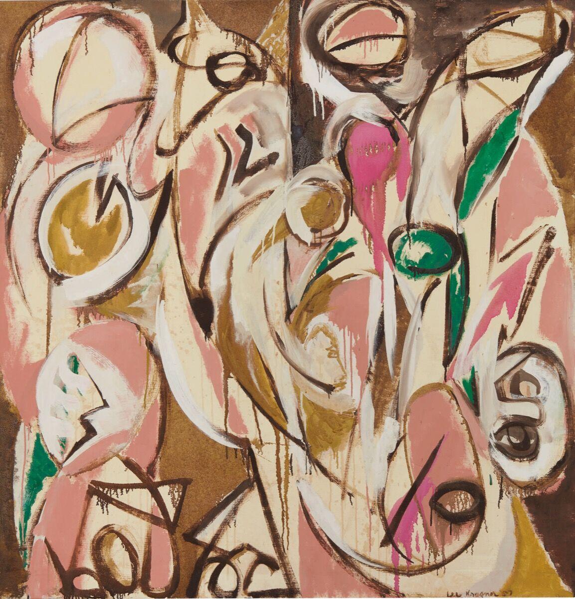 Lee Krasner, Re-Echo, 1957. Courtesy of Sotheby's.