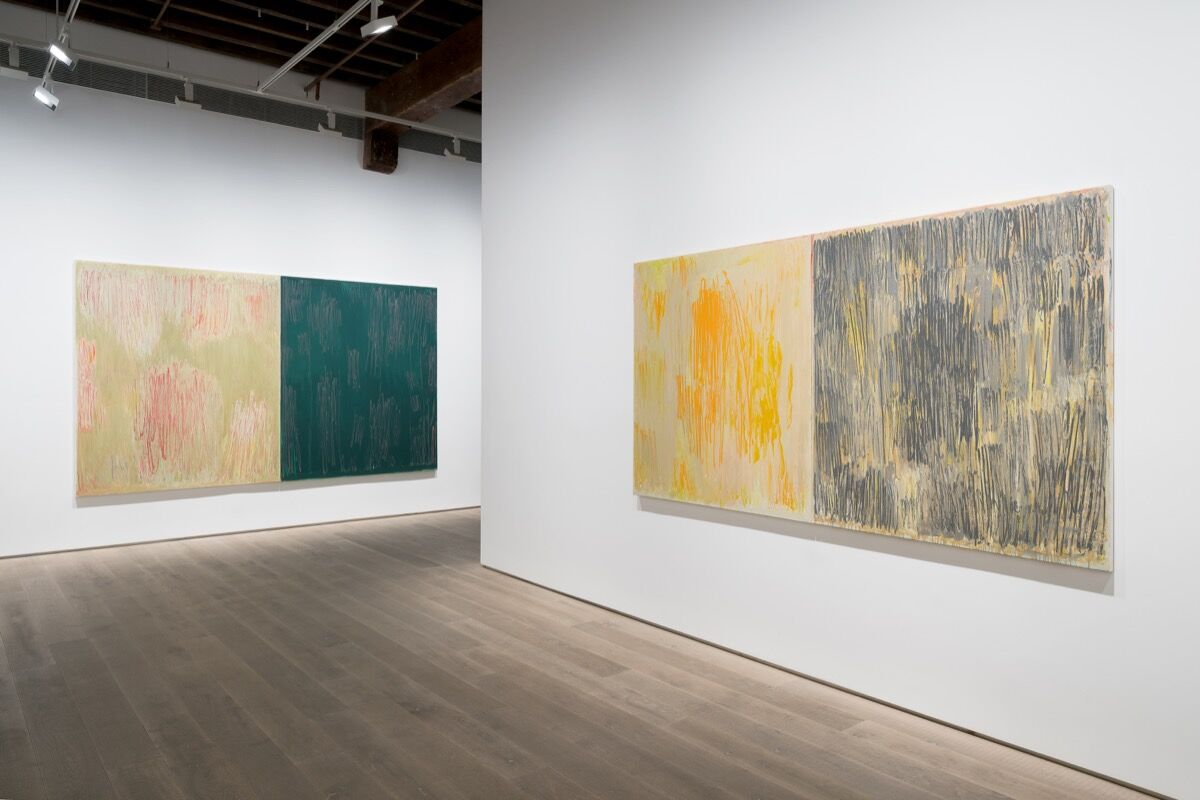"""Christopher Le Burn, installation view of """"Diptychs"""" at Lisson Gallery, Shanghai, 2019. © Christopher Le Burn. Photo by Alessandro WangCourtesy of Lisson Gallery."""