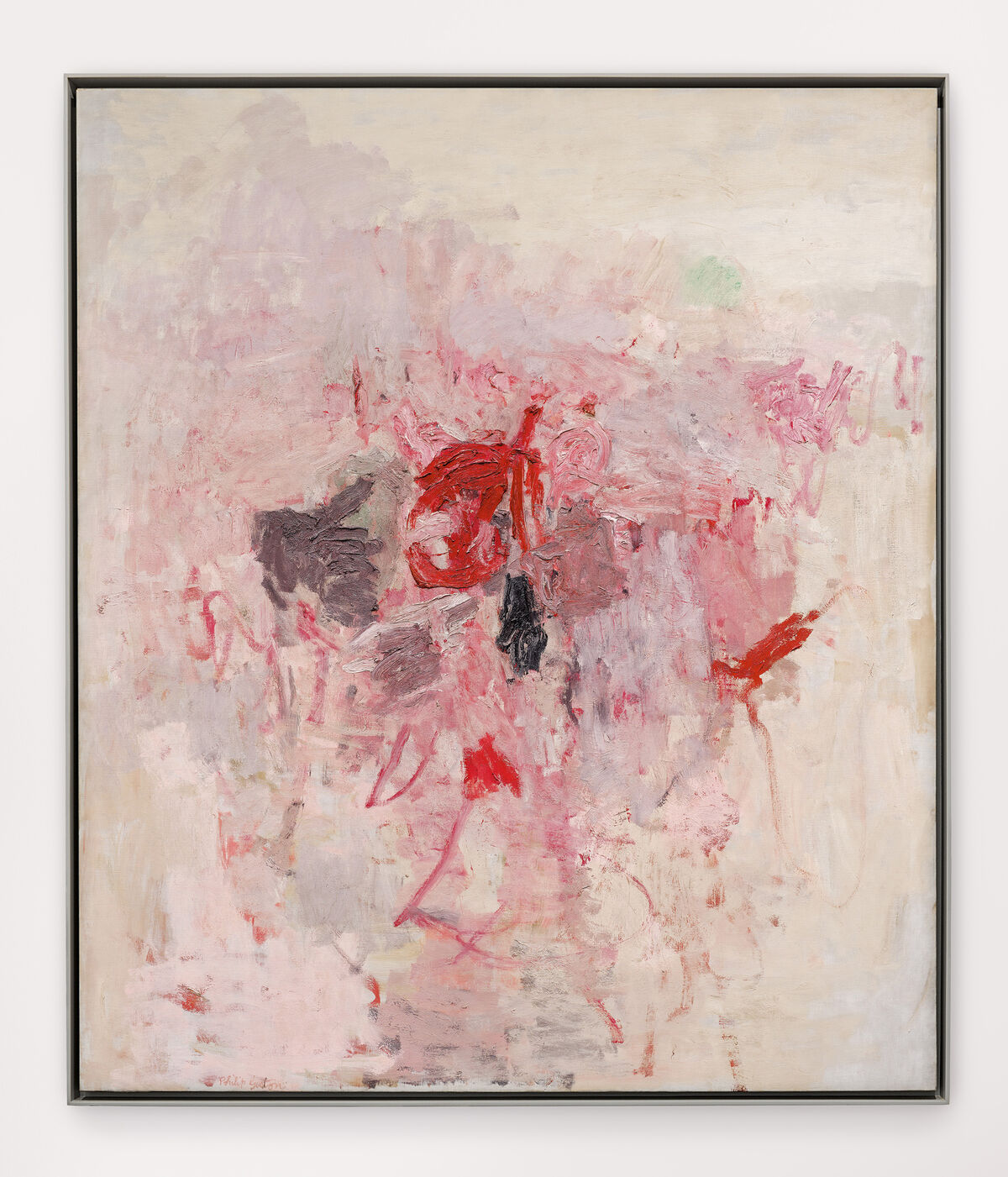 Philip Guston, The Visit, 1955. © Philip Guston. Courtesy of the artist and Hauser & Wirth.