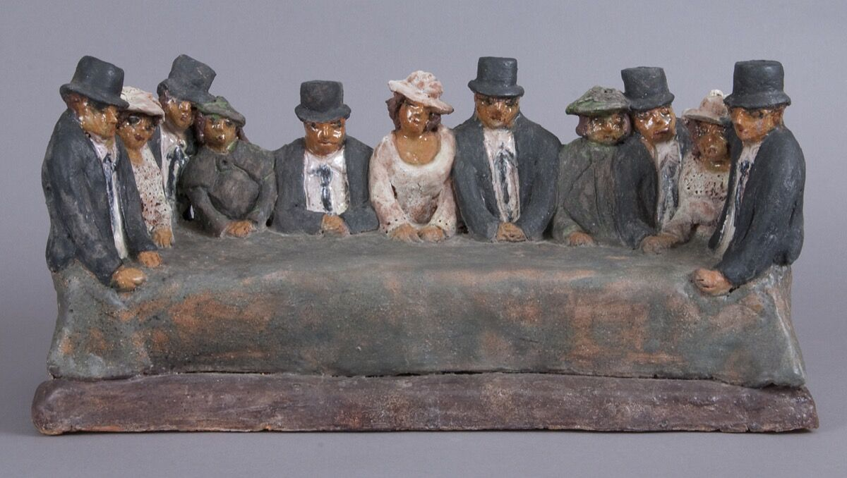 Beatrice Wood, Men with their wives (1996). Image courtesy of Francis M. Naumann Fine Art.
