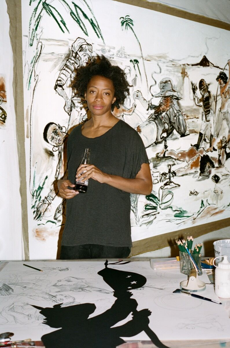 Portrait of Kara Walker by Ari Marcopoulos.