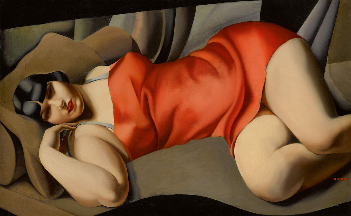 Tamara de Lempicka, La Tunique rose, 1927. Sold for $13.4 million. Courtesy Sotheby's.