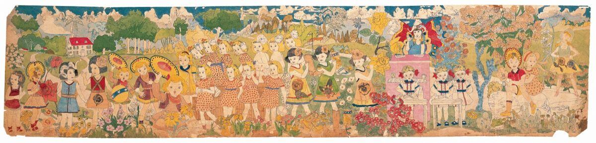 "Henry Darger, Untitled (three studies), Mid-twentieth century, Graphite on found paper, 7 x 5 ½""; 8 x 11""; 10 ½"" x 6""; Collection American Folk Art Museum, New York, gifts of Kiyoko Lerner, 2003.7.45a-c. Photo by Gavin Ashworth, courtesy of American Folk Art Museum. © Kiyoko Lerner."