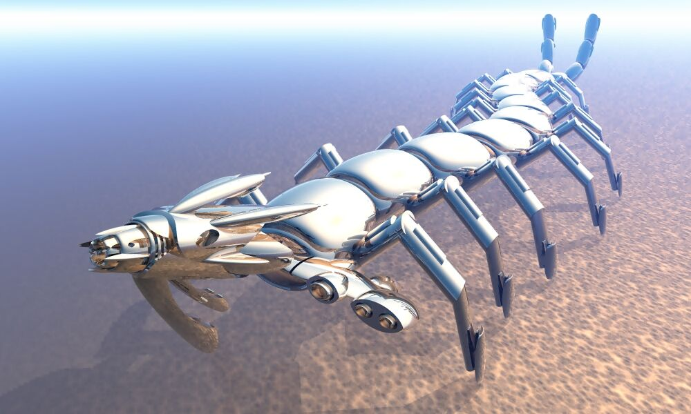 Render of Art To Be Continued Collective, Myriapoda Robota, 2018. Courtesy of the artists.