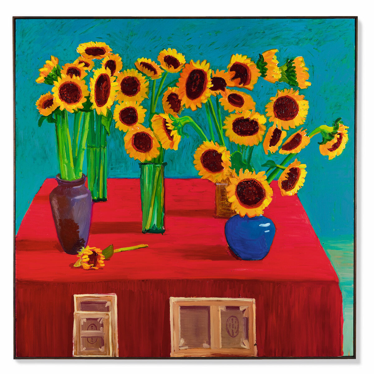 David Hockney, 30 Sunflowers, 1996. Est. in excess of HK$80 million (US$10.3 million). Courtesy Sotheby's.