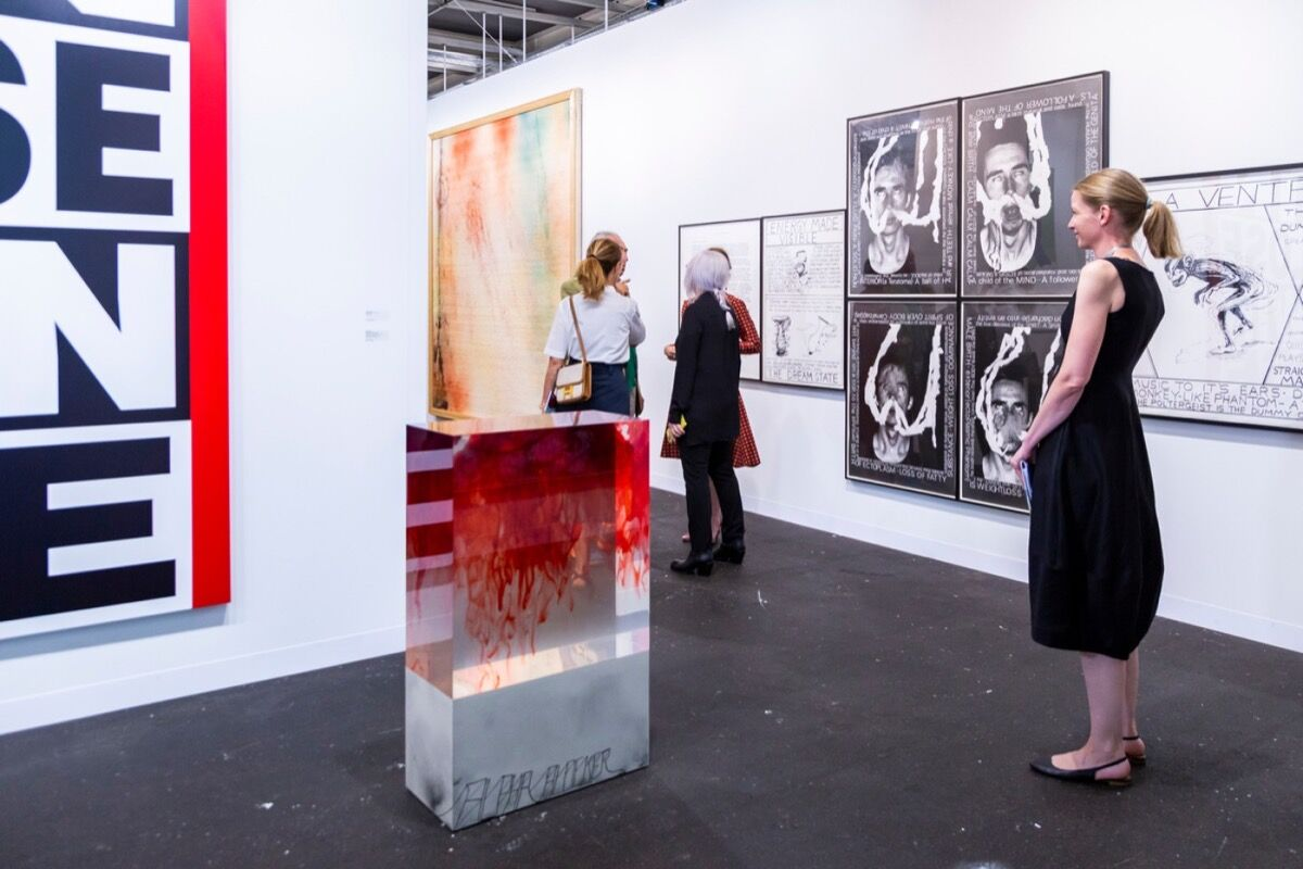 Installation view of Sprüth Mager's booth at Art Basel in Basel, 2018. © Art Basel