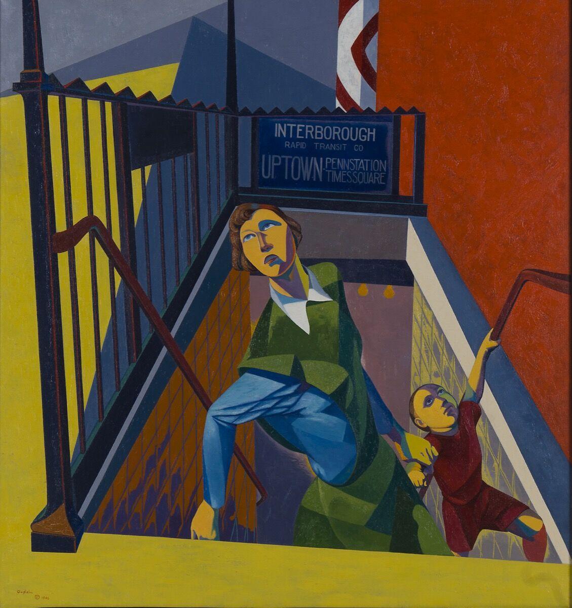 O. Louis Guglielmi, Subway Exit, 1946. Courtesy of the Jewish Museum.